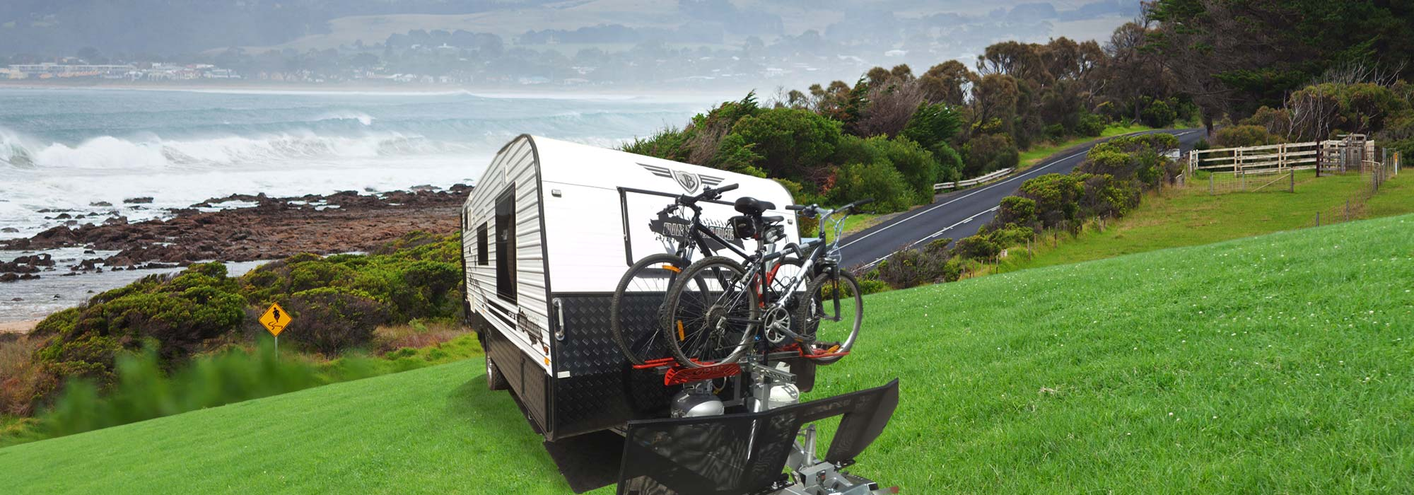 gripsport bike rack on caravan